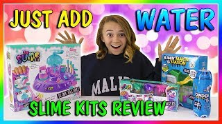 JUST ADD WATER SLIME KITS TEST | We Are The Davises