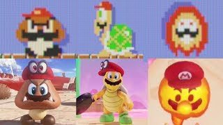 Mario Odyssey VS Super Mario Maker (Enemy Transform Comparison)