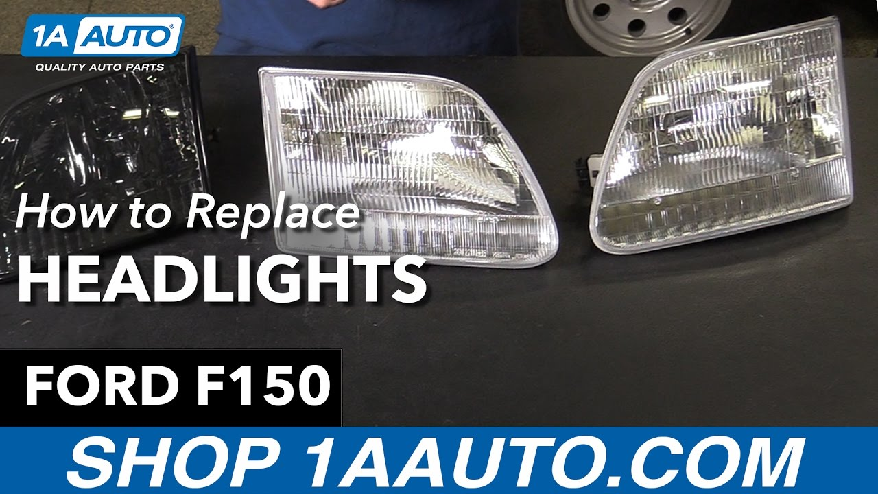 How To Replace Headlights 98 00 Ford F150 Youtube 1995 Xl 4 9 Engine Diagram