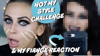 NOT MY STYLE CHALLENGE & FIANCES REACTION (makeup & NEW hair)