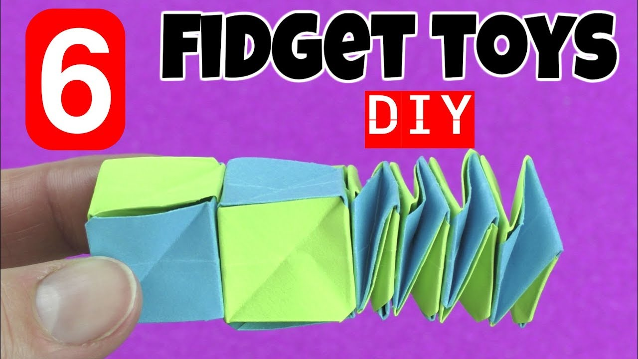 New 6 Easy Diy Fidget Toys Diy Toys For Kids To Make Using Household Items Stress Relievers Diys