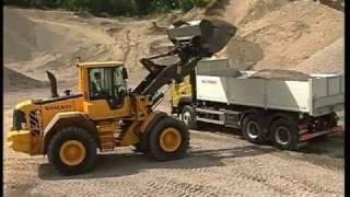 3. Körteknik Volvo hjullastare: Lastning av grus och sand