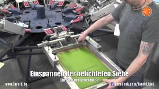 Textil-Siebdruck - LAROID Textilveredelung