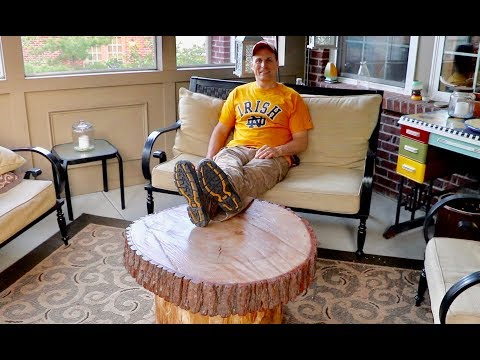 DIY Massive Oak Slab Table and Chop-umentary from Cat Footwear