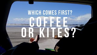 Which to do first... Coffee... or Fly my kite?
