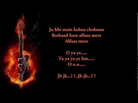 Jo Bhi Main   Rockstar  karaoke by yakub