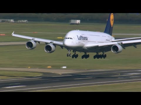 BEST SHOTS of Airbus A380 Landing, Taxiing, Maintenance