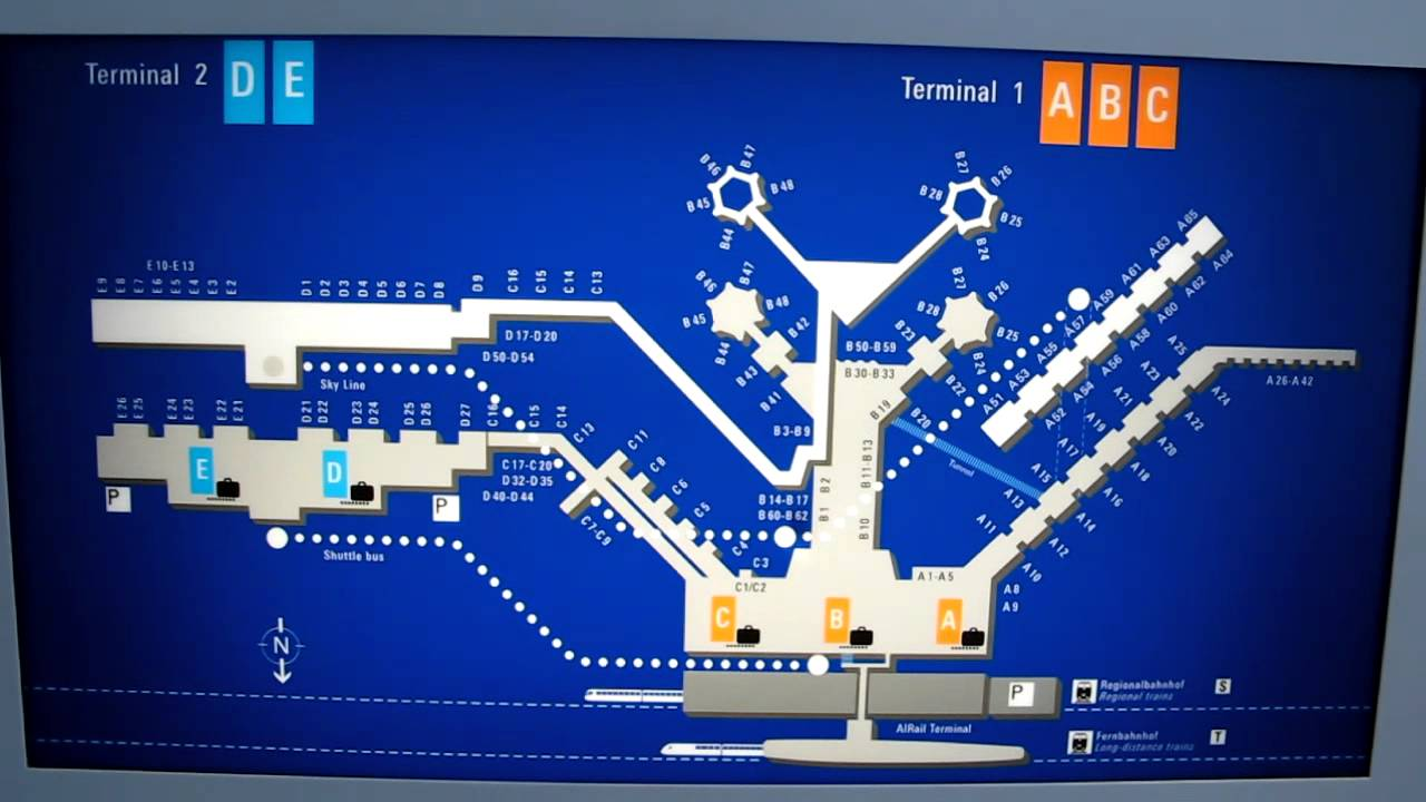 Frankfurt Germany Airport MapMOV YouTube