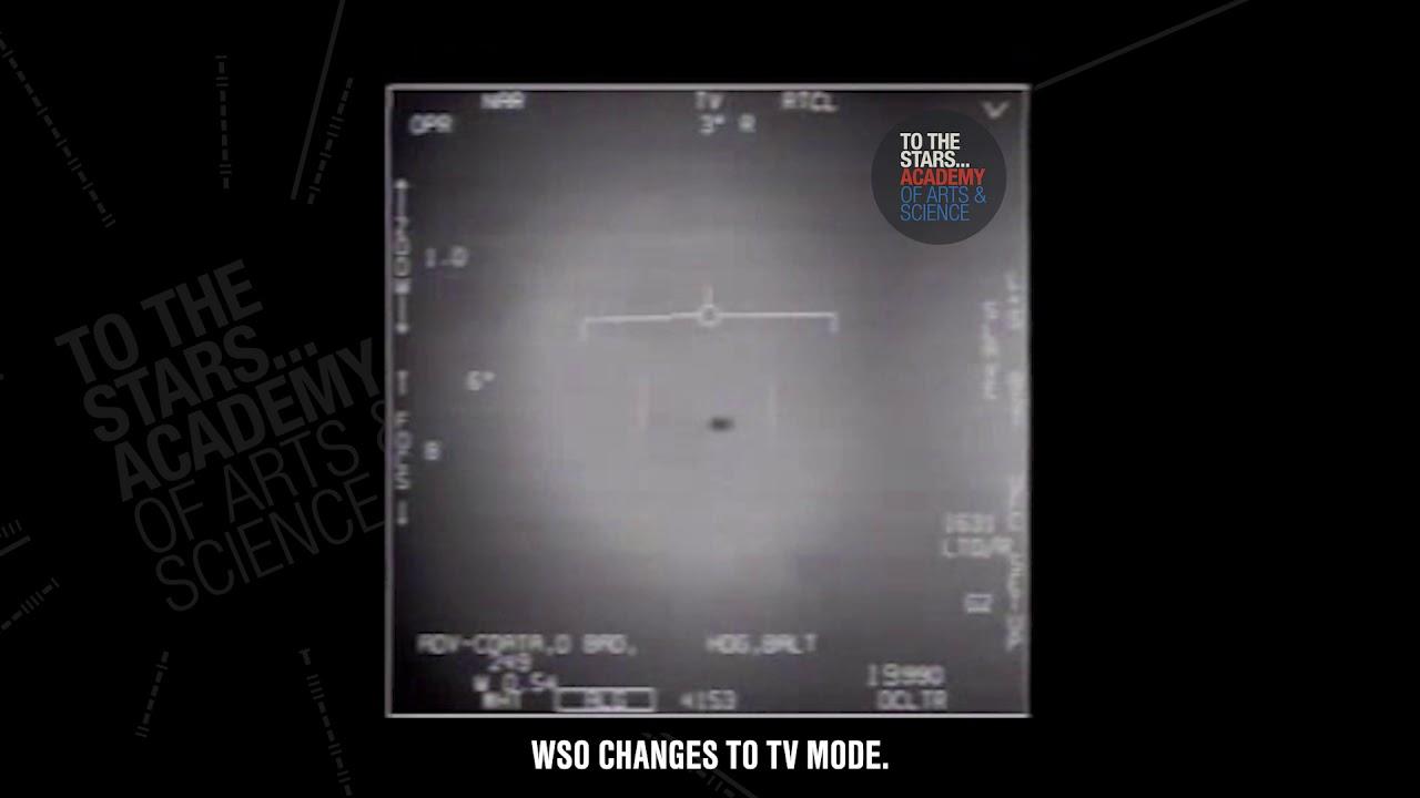 Video penampakan UAP (UFO) yang viral karena disebutkan sebagai video asli oleh angkatan laut AS (gambar dari: https://www.youtube.com/watch?v=6rWOtrke0HY)