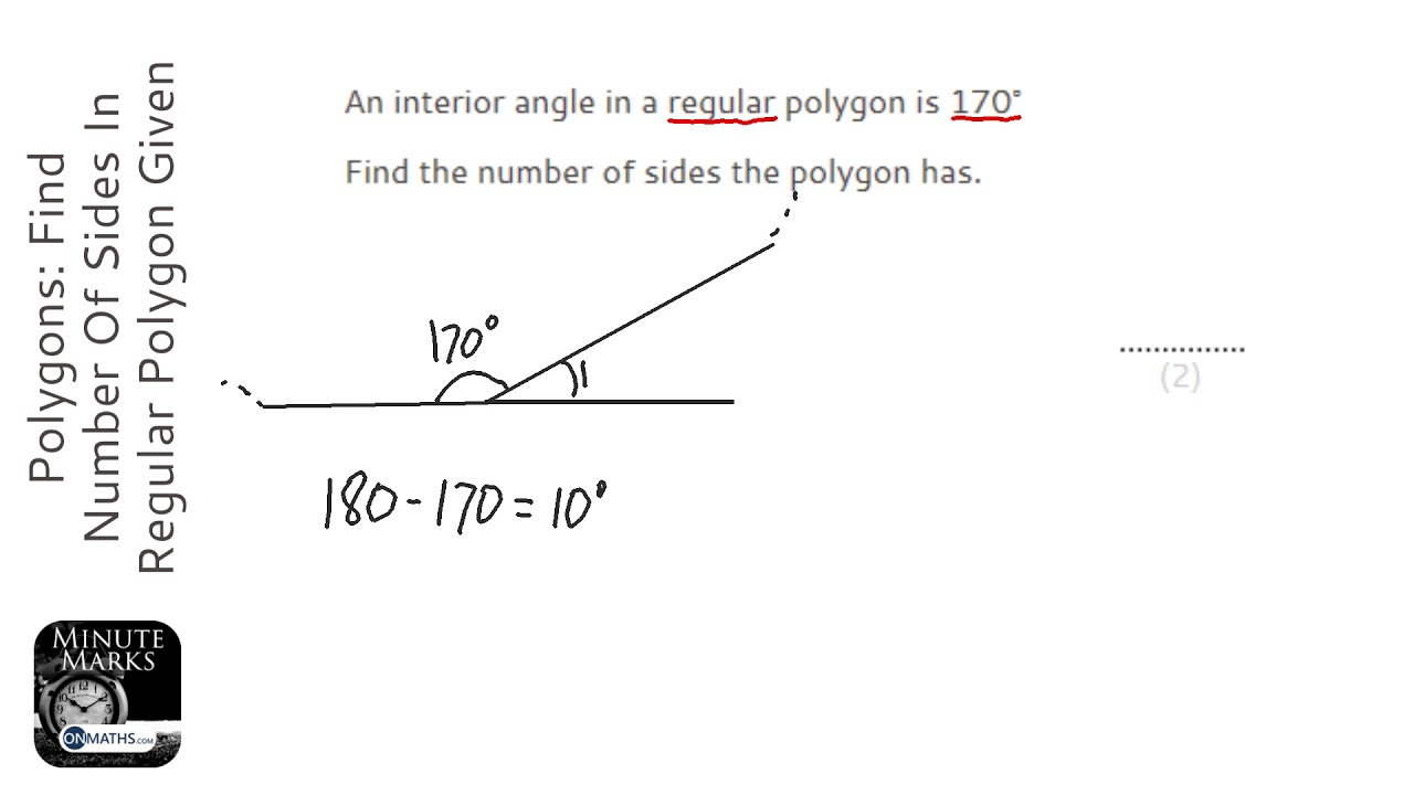 How do you find the exterior angle - How to find exterior and interior angles ...