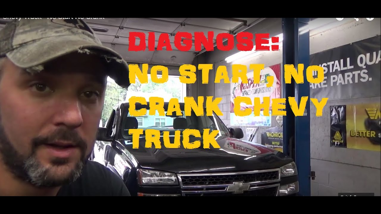 small resolution of chevy truck no start no crank