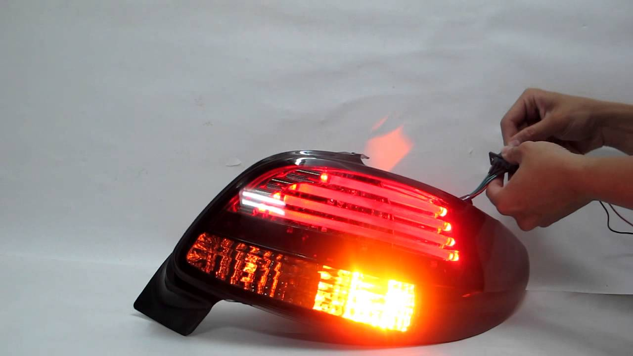206 3d/5d hatchback 1998-2010 led tail rear light smoke for