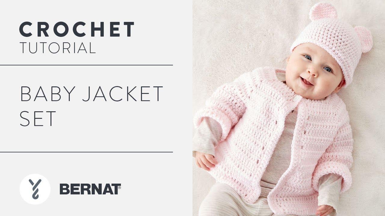 6c17cc03b Crochet a Baby Jacket Set - YouTube