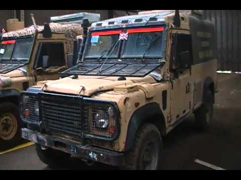 two  ex army landrover snatch