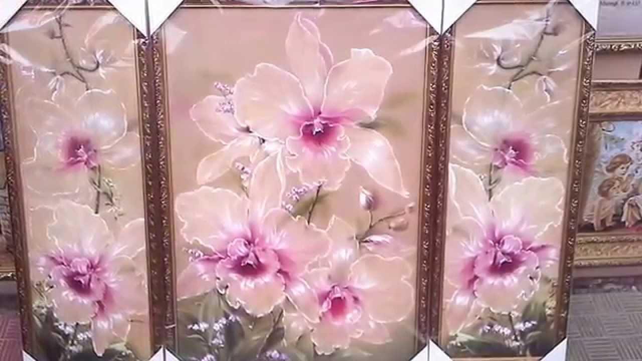 Триптих вышивка орхидея