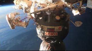 ISS: Kosmonauten untersuchen mysteriöses Loch der Sojus-Raumkapsel