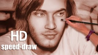 PewDiePie AMAZING speed paint (How To Draw) a face