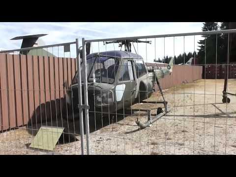 Westland Scout light helicopter damaged