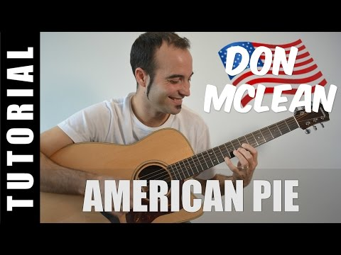 How to play American Pie - Don McLeanEASY Tutorial CHORDS and LYRICS, TABS