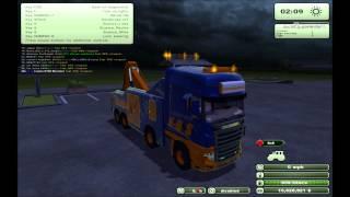 farming simulator 2013 mod showoff (Scania R700 Evo tow)