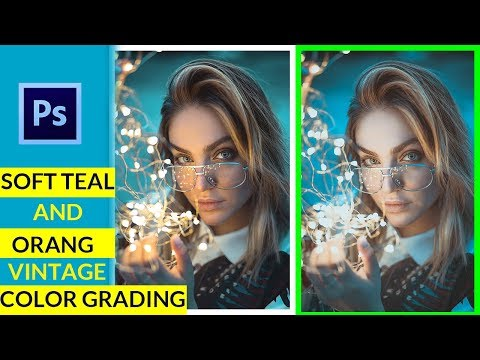 Best Way:Soft Teal and Orange Vintage Color Grading Photoshop Tutorial/Tech perfect @PiXimperfect thumbnail