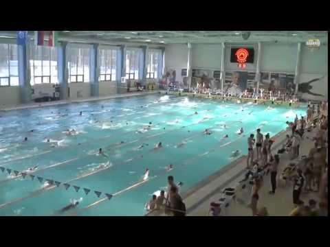 Чемпионат и Первенство ЦФО России по плаванию, февраль 2015 Обнинск (1-й день)