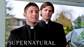 Сэм и Дин в роли священников | Сверхъестественное