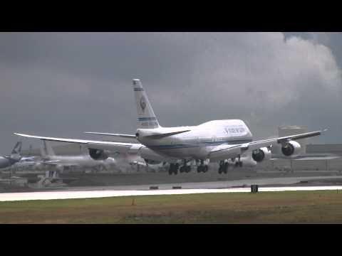 State of Kuwait 747-8i Landing