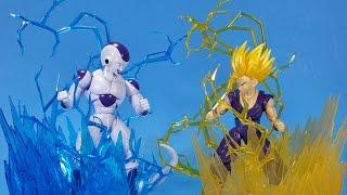 Bandai Aura Effects Yellow and Blue Figure rise Standard Dragon Ball