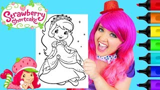 Coloring Strawberry Shortcake Princess Coloring Page Prismacolor Markers   KiMMi THE CLOWN