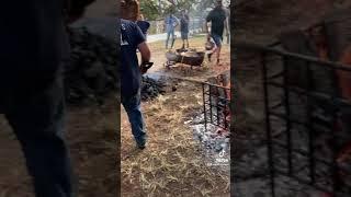 미국 옛날 방식의 바베큐