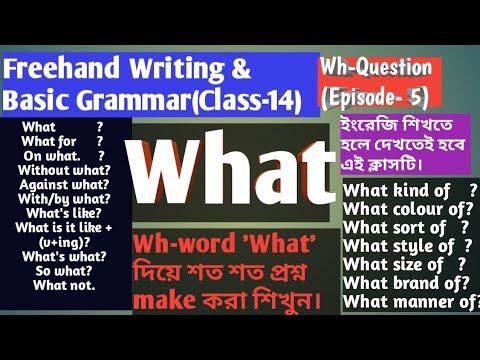 'What' দিয়ে শত শত প্রশ্ন করুন সবথেকে সহজ উপায়ে! (Wh-Question: Episode-5)