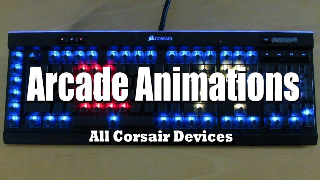 Corsair RGB Profiles: Arcade Animations (Pacman, Snake, Breakout, Pong)