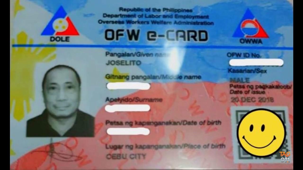OWWA OFW e-CARD ONLINE APPLICATION