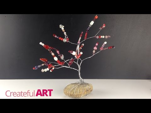 """How to make a """"Wire Tree""""--sculpture with beads"""