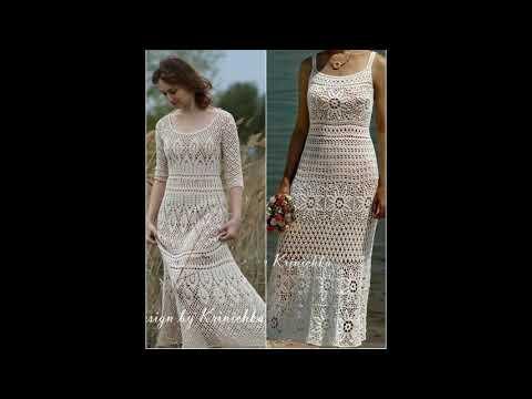 Платья длинные крючком
