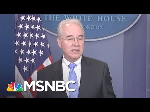 Tom Price Took $17K Private Flight For 90 Min Of Work | All In | MSNBC