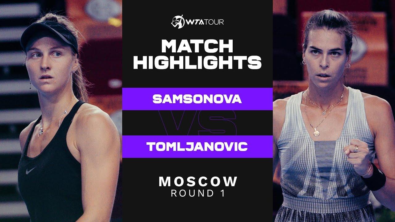 Download Liudmila Samsonova vs. Ajla Tomljanovic | 2021 Moscow Round 1 | WTA Match Highlights