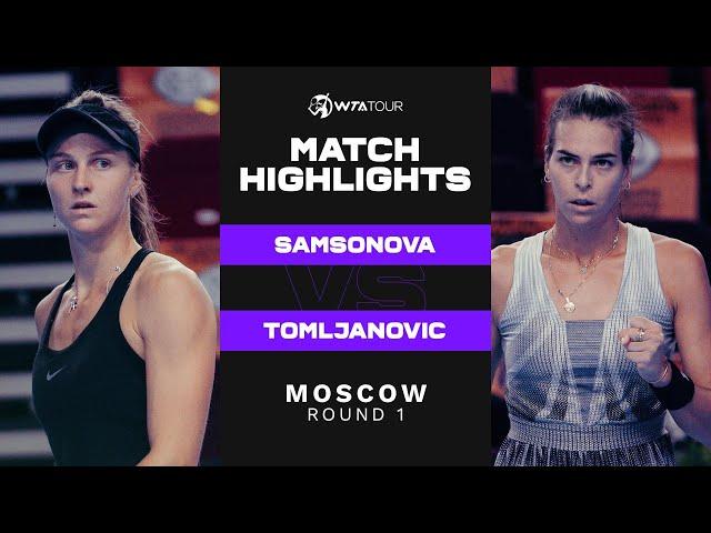 Liudmila Samsonova vs. Ajla Tomljanovic | 2021 Moscow Round 1 | WTA Match Highlights