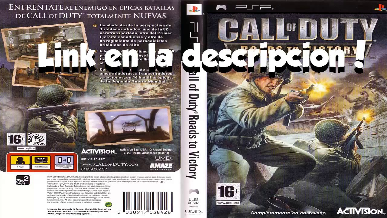 Descargar Call Of Duty Roads To Victory Psp 1 Link Mega 2017 Youtube