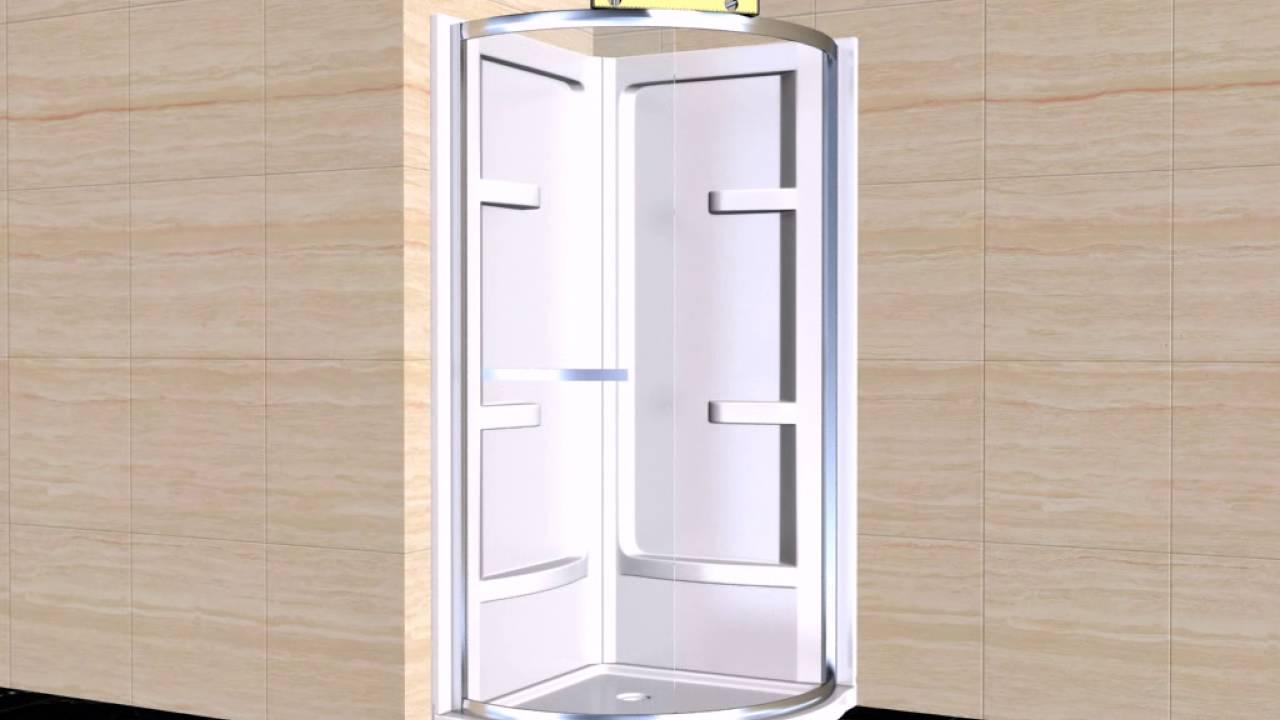 OVE Elija corner shower installation - YouTube