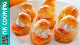 Профитроли со Сливочным Сыром и Сёмгой ♥ Закуски на Праздничный Стол ♥ Рецепты NK cooking