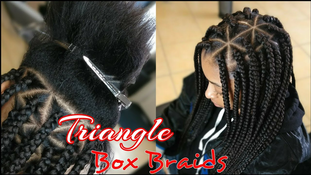 15 Trendy Triangle Box Braids Quick How To Youtube