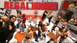 GTS WRESTLING: REGAL RUMBLE! WWE Figure Matches Animation PPV Event! Mattel Elites
