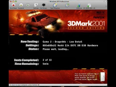 DirectX 3D in VMWare Fusion on Mac OS X