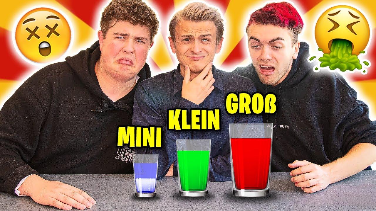 mini / Kleiner / GROßER Shot | GETRÄNKE Challenge (mit Smiley & Simon Will)