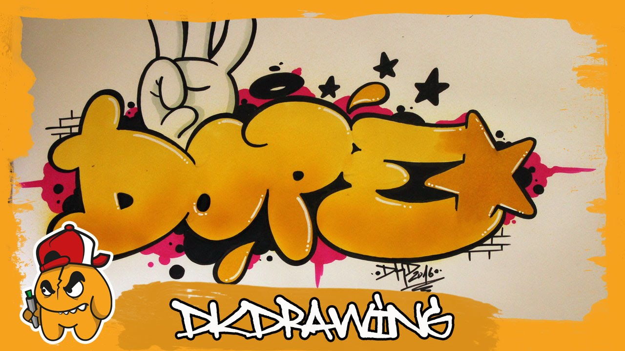 Graffiti Tutorial How To Draw Dope Graffiti Bubble Style Letters