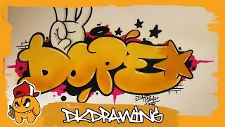 Graffiti Tutorial - How to draw dope graffiti bubble style letters