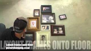 The best way to Hang a photo frame montage
