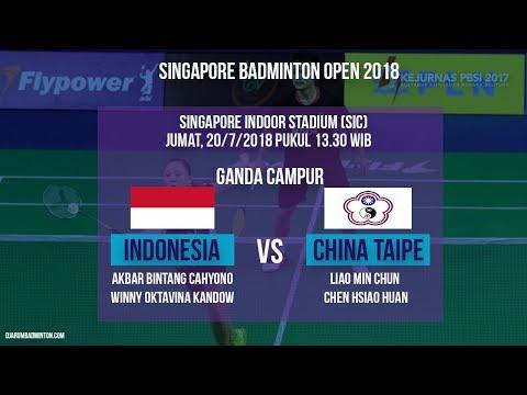 Jadwal Laga Ganda Campur Bintang Cahyono/Winny Oktavina Melawan Ganda Campur Taipe Di Singapore Open